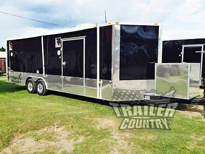 New 2021 8.5 X 24 V-nose Enclosed Cargo Car Hauler Trailer Loaded Race Package 2
