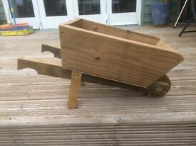 Hand made garden wheelbarrow planter