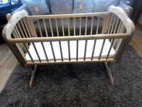 SOLD Mothercare Swinging Cot with Mattress in excellent condition