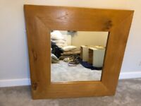 3ft American Oak Mirror. Mirror itself is 21 inches square.