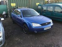 Ford Mondeo good driving car lovely black alloy wheels no no mot in metallic blue any trial welcome
