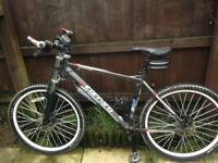 Costom Carrara down hill boomer forks white wheels new tyres on bike and spare with