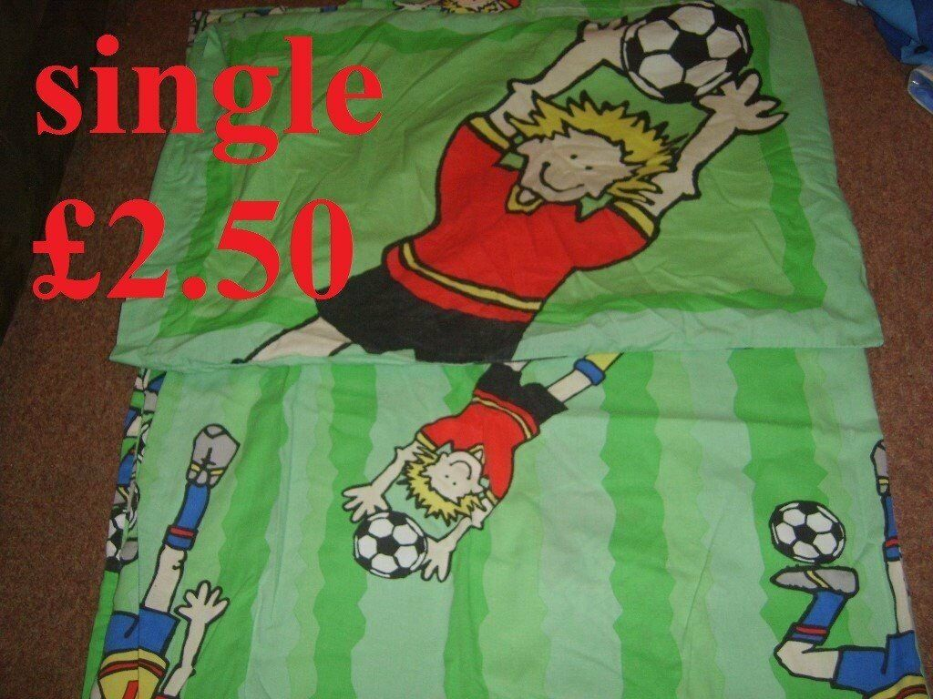 football single duvet cover and pillowcase2.50 no offers collection from didcotin Didcot, OxfordshireGumtree - football single duvet cover and pillowcase £2.50 no offers collection from didcot