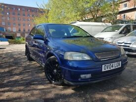 04 plate- vauxhall astra 1.6 petrol - new tyres with VXR alloy wheels - one year mot -remote locking