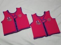 2x Speedo Girls' Sea Squad Float Vest Float Jacket Pink