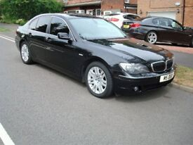 Black BMW 730d SE Auto, fitted with remove-able Tow Bar and Electrics.