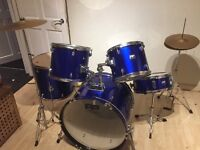 Blue Performance Percussion Drum Kit