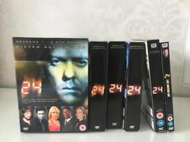24 Complete series 1-8 & Live another day