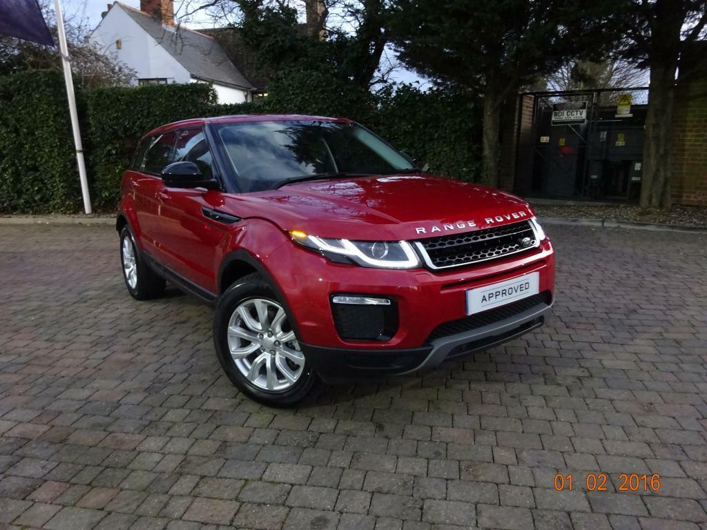 land rover range rover evoque 2 0 td4 se tech 5dr auto red 2016 01 13 in chelmsford essex. Black Bedroom Furniture Sets. Home Design Ideas