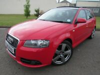 2007 AUDI A3 2.0TDI, SPORTS BACK, S-LINE, FULL LEATHER INTERIOR, PANORAMIC GLASS ROOF