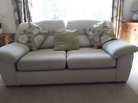 M & S large two seater sofa - beige fabric