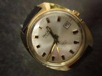 Vintage Paul Jobin of SWITZERLAND Mechanical 17 Jewels Incabloc Wrist Watch Gold