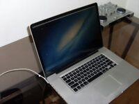 MacBook Pro 15 inch 3.4 quad core I7 8GB Ram 500GB HD Latest OSX & Logic Pro X