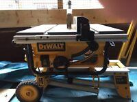 Dewalt table saw and legs
