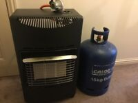Calor gas heater with 3/4 full 15 kg bottle