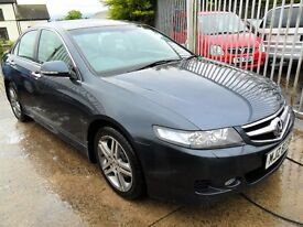 honda accord 2.2 diesel ex grey full leather 2007 damage repairable