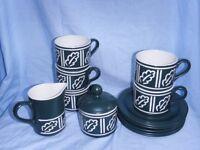 """Hornsea """"forest"""" tea set"""