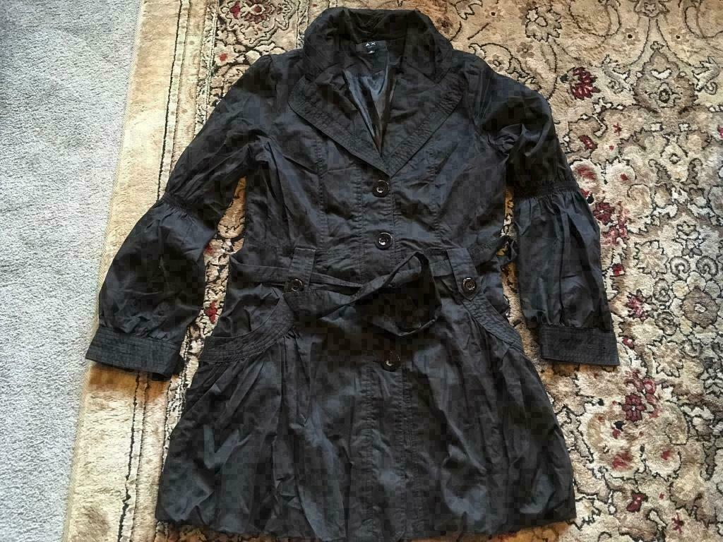 9ebbc1e72 A X paris ladies black coat light weight size M/12 used one time ex  condition £7