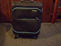 Small Black American Tourister Suitcase For Sale
