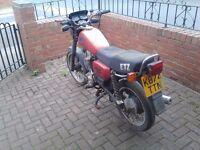 MZ 125 ETZ motorbike
