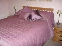 Beautiful King size Bed Throw with Cushions