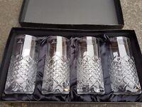Royal doulton 4 glass/crystal tumblers
