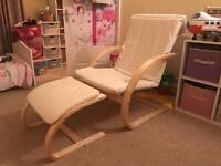 Nursing Chair with Foot Stool