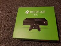 XBOX ONE 1TB WITH 1 PAD AND LEADS MAY SWAP FOR PS4