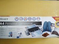 Brand new Texet A4 Personal Laminator LM-270 only £11