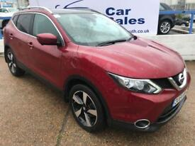 NISSAN QASHQAI 1.5 DCI N-TEC PLUS 5d 108 BHP A GREAT EXAMPLE INSIDE AND OUT (red) 2015