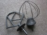 """Pair of Original Attachments for the Kenwood Chef the """"K"""" Beater and Whisk"""