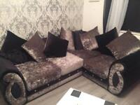 Corner sofa with matching 2 seater sofa. Will consider swapping for the right sofa