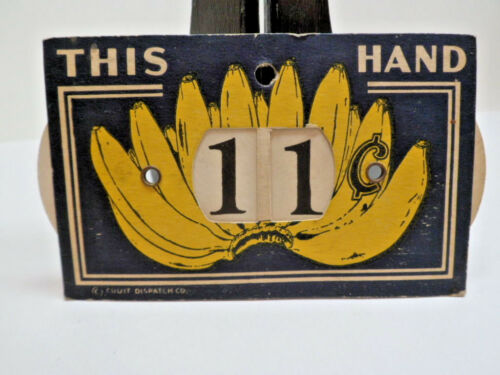 1800s Grocery Store Banana Label Pricing Tag Duel Sided