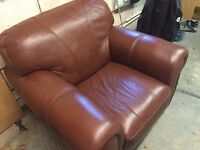 Leather Single sofa style chair
