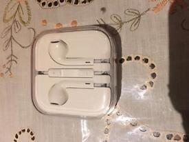 New genuine iPhone headphones in box