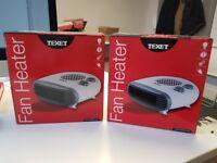 2 x fan heaters for sale