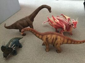 Schleich dragon, dinosaurs and sea animals