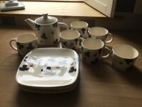 Rachel BarkerTeapot, Milk and SugarBowl, Mugs and Side Plates