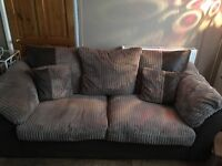 3 seater DFS fabric sofa, with cushions, good condition, pet and smoke free home