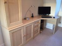 Home Office - Corner Desk, Filing Cabinet, Chair and Two Storage Cabinets