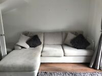 3/4 seater corner sofa with foot stool