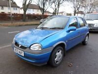 Vauxhall Corsa 1.2 i GLS 5dr 2000 (X REG) BLUE, CHEAP RUN AROUND, BARGAIN, MOT TILL MAY 2017