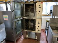 COMMERCIAL CATERING TWIN CONVECTION OVEN TOM CHANDLEY BAKERY RESTAURANT TAKE AWAY SHOP