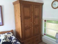 Lovely Antique Pine Wood Wardrobe