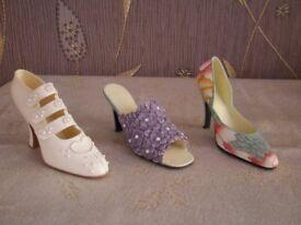 3 x Shoe Ornaments