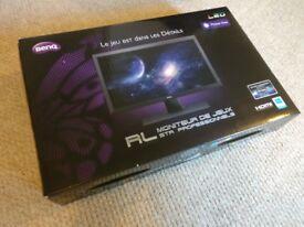 "Brand New BENQ RL2455HM Full HD 24"" LED Gaming Monitor RRP £140 1MS 1080p HDMI/VGA/DVI"
