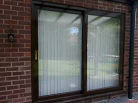 PVC double glazed sliding doors