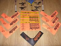 Racketball / Raquetball Set Bundle / Lot - 13 Rackets, 6 Balls, 4 Glasses, Rubber Ground Markers