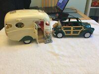sylvanian family caravan & car