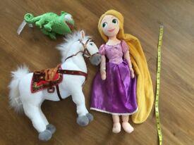 Disney Rapunzel, Maximus & Pascal soft toy